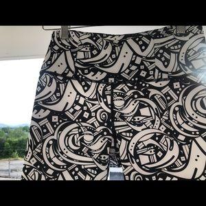 Manduka b&w patterned yoga pants